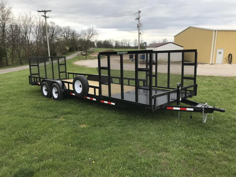 2018 STAG 81.5X24 Equipment Trailer W/ 3 RAMPS