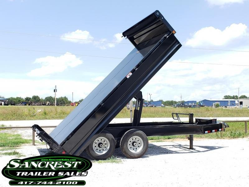 "2018 Load Trail 96"" x 14' Tandem Axle Pintle Hook Deck Over Dump in Brandsville, MO"