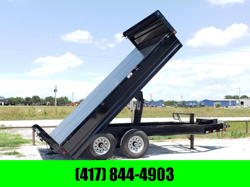 "2018 Load Trail 96"" x 14' Tandem Axle Pintle Hook Deck Over Dump"
