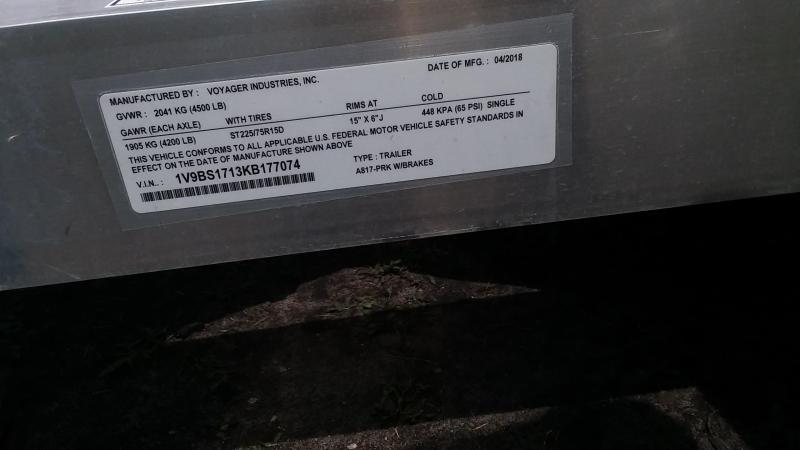 2019 Yetti Angler A817-PRK (Hydraulic)