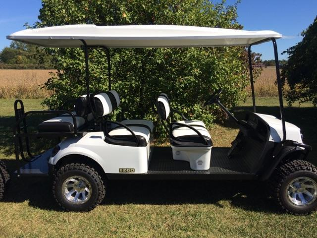2018 E-Z-Go Express L-6 Electric | Drew's Custom Carts | Port ... on hot tub covers, utv covers, boat covers, lawn mower covers, snowmobile covers, golf register covers, grill covers, golf utility carts, golf club covers, golf bags, rv covers, golf accessories, car covers, atv covers, golf facebook covers, bicycle covers, scooter covers, golf apparel, golf clothing, motorcycle covers,