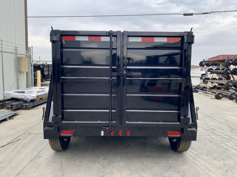 2019 R&J 5x8 10k  4' Wall Dump Trailer