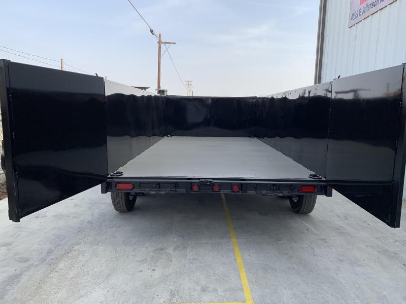 2019 R&J 7X14 14K DUMP 3' WALL