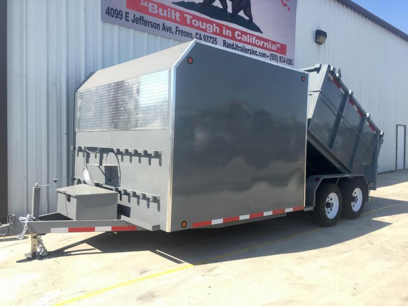 2019 R and J Trailers Inc 8x15 Custom Enclosed/Dump Dump Trailer
