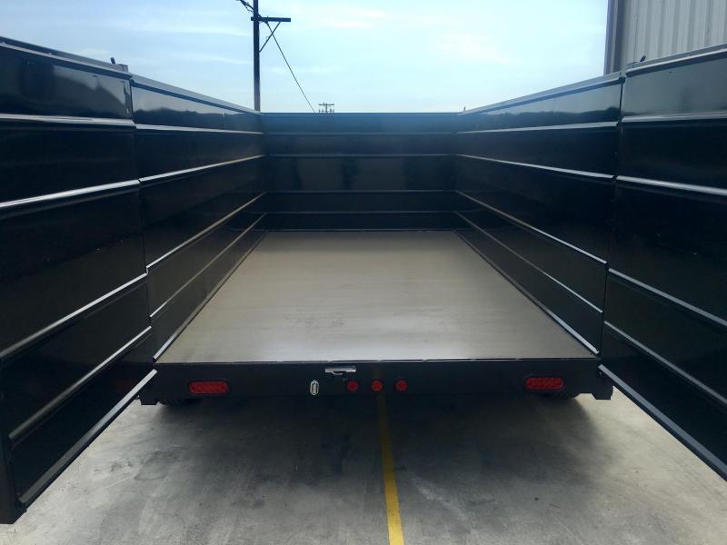 2019  R&J Trailers Inc 6x12 10k Dump Trailer 4' WALLS