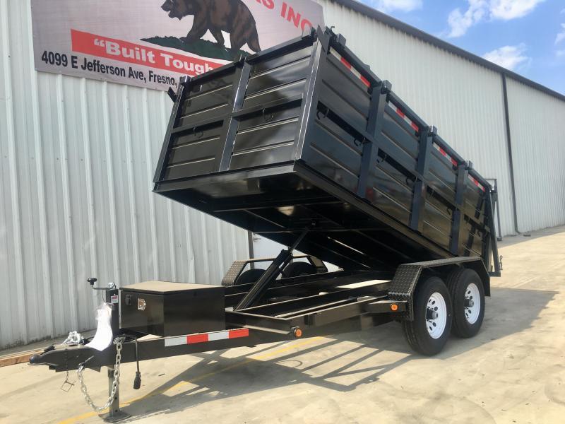 R&J Trailers Inc 6x12 10k Dump Trailer 4' WALLS