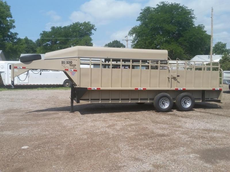 "2019 Big Bend 20' x 6'8"" 3/4 Top Stock Trailer in Ashburn, VA"