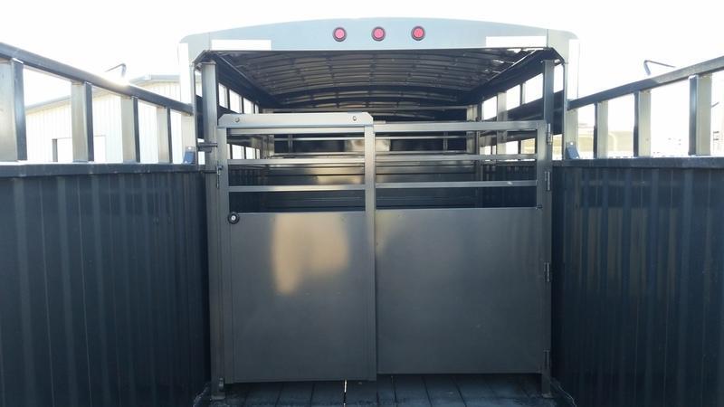 2018 Titan 16' Rancher 1/2 Top GN Livestock Trailer