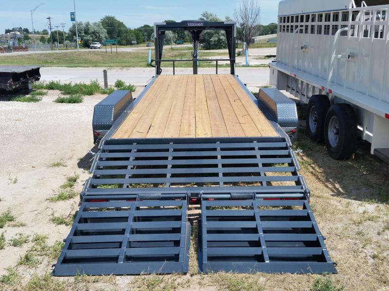 2019 Titan Trailers 25' GN LO GLIDE FLAT BED Flatbed Trailer