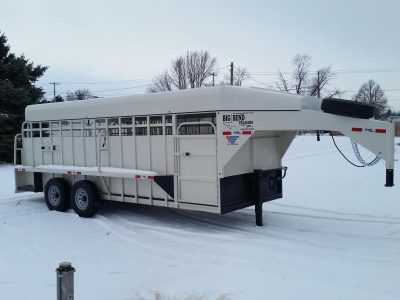 2019 Big Bend 20 FULL TOP Livestock Trailer
