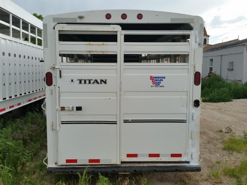 2015 Titan Trailers 24' CLASSIC STOCK Livestock Trailer