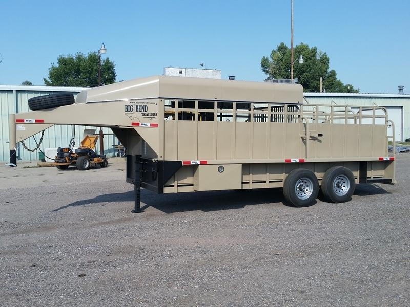 "2019 Big Bend 18' x 6'8"" 1/2 Top Stock Trailer"