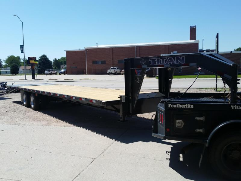 2019 Titan Trailers 36' WIDE GLIDE FLAT BED Flatbed Trailer