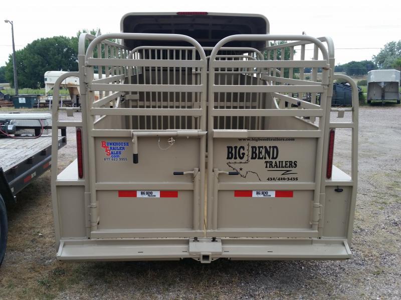 2019 Big Bend 16' SINGLE AXLE HALF TOP Livestock Trailer