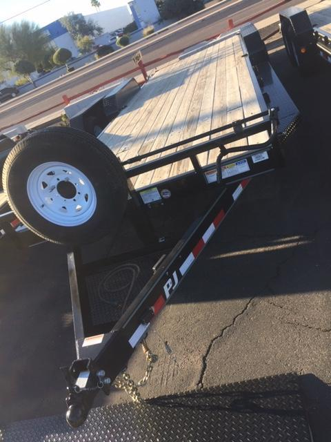 "2019 83""x24' PJ Trailers CC Equipment Trailer 2x7000 Axles"