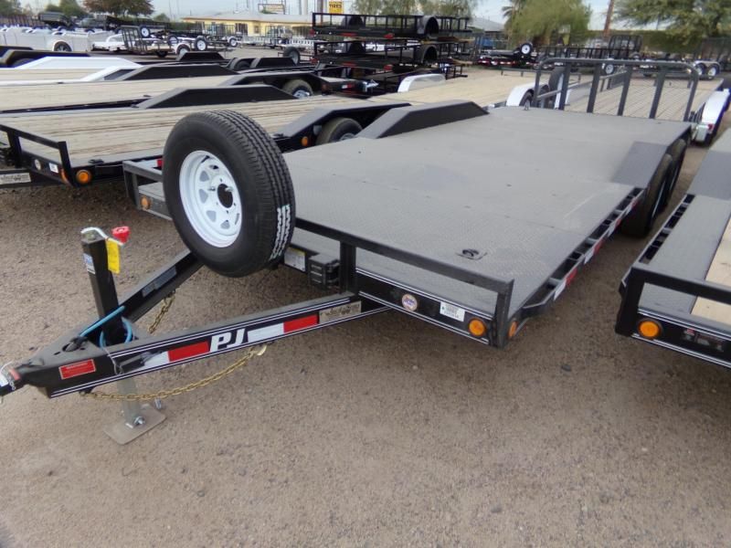 2019 PJ Trailers B5202 STEEL DECK BUGGY HAULER DRIVE OVER FENDERS Car / Racing Trailer
