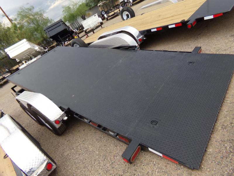 "83""x16' PJ Trailer Tilt Deck Steel Deck w/ Powder Coating"