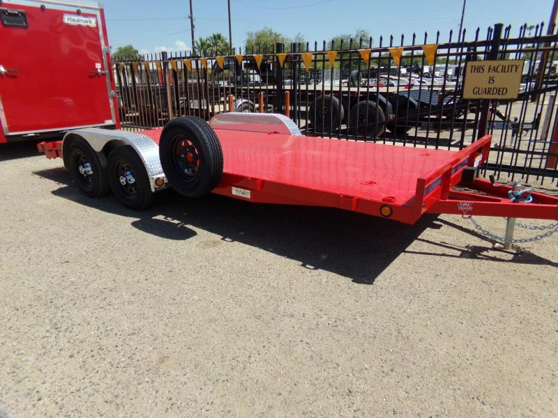 2020 PJ Trailers 18 FT CARHAULER STEEL DECK RED POWDER COAT Car / Racing Trailer