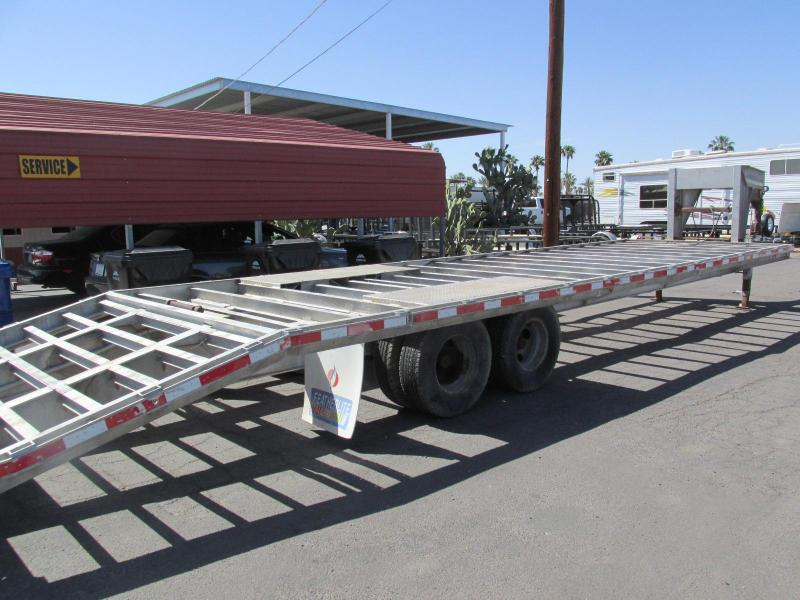 1997 Featherlite 102x32 Flatbed Trailer