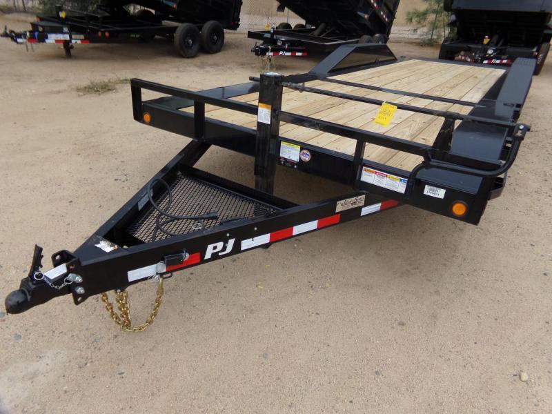 """102""""x24' PJ Trailer Tilt w/ Drive Over Fenders"""