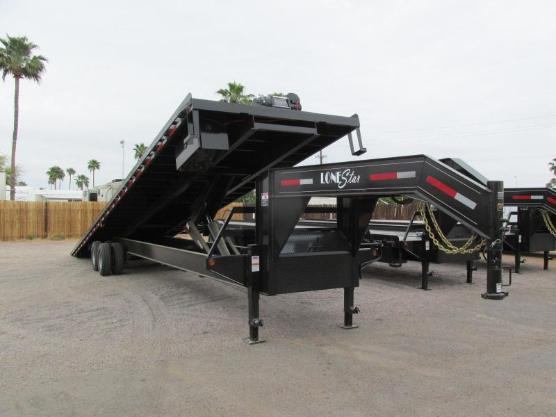 2018 Lonestar 102x40 Flatbed Tilt Trailer