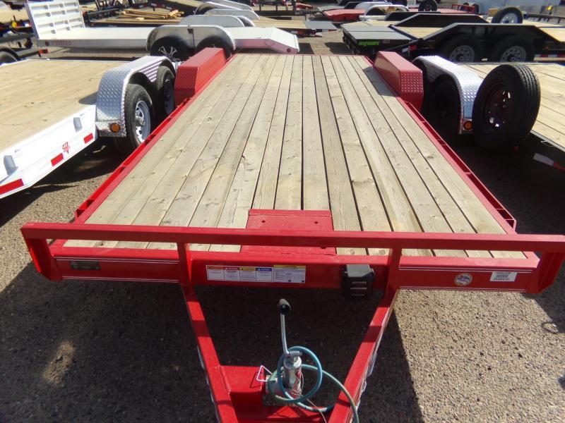 2019 PJ Trailers 20 FTCAR HAULER RED POWDER COAT W/ WINCH PLATE Car / Racing Trailer