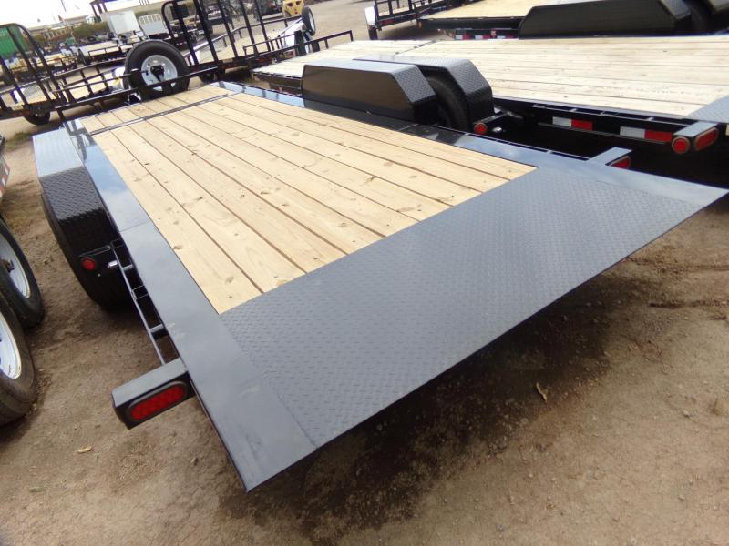 "82""x20' PJ Tilt Equipment Trailer w/ 2x8000k Axles"