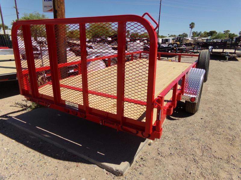 2020 PJ Trailers 14 X 77 UTV / ATV UTILTY TRAILER RED POWDER COAT ATV Trailer