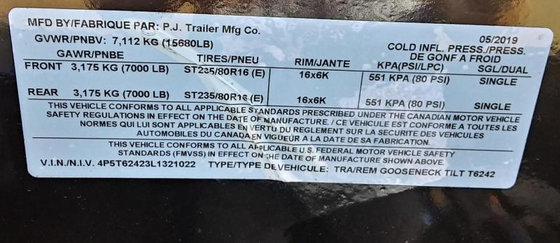 2020 PJ Trailers 24X6 CHANNNEL SUPER WIDE Equipment Trailer