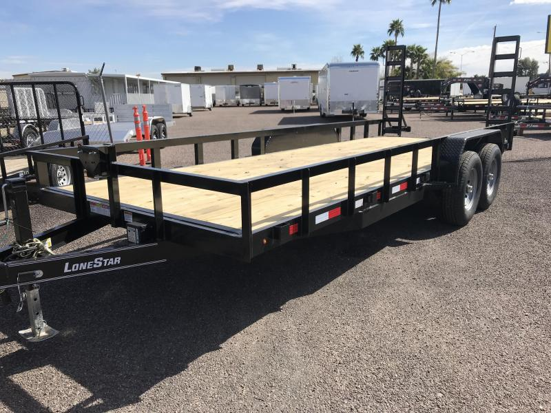 2019 Lonestar 83x20 Equipment Trailer