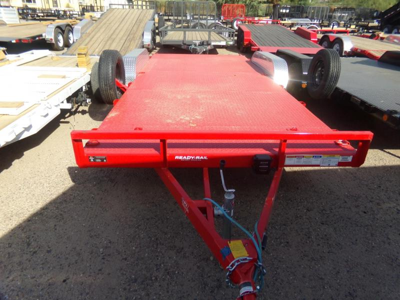2020 PJ Trailers 18 FT STEEL DECK CAR HAULER RED Car / Racing Trailer