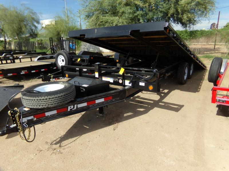 2019 PJ Trailers 22FT DECKOVER TILT CAR HAULER Car / Racing Trailer