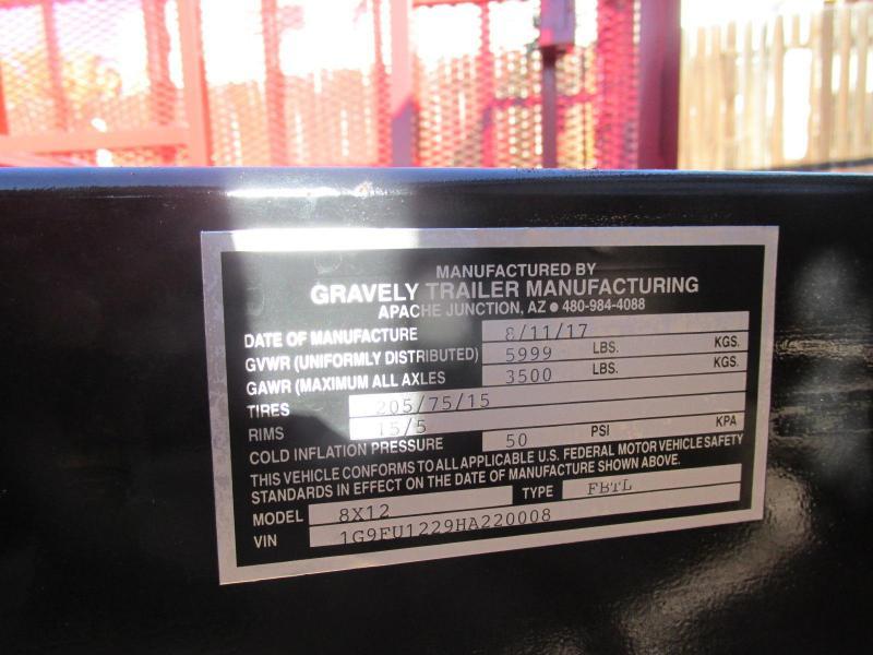 2018 Gravely 77x12 LANDSCAPE Utility Trailer
