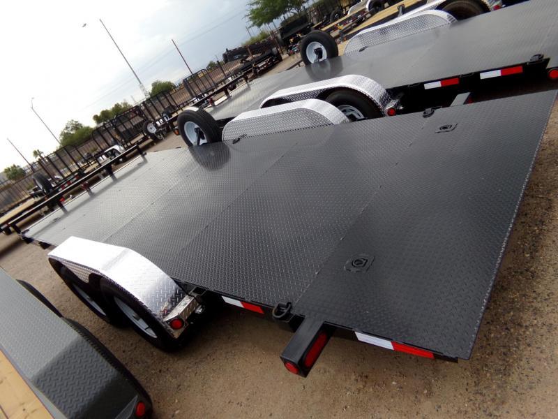 "83""x18' PJ Trailer Tilt Steel Deck w/ Powder Coat"