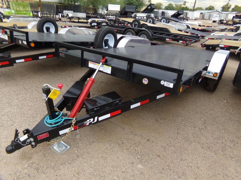 "83""x18' PJ Trailer Tilt Steel Deck w/ Powder Coat"