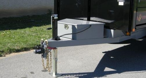 B-Wise DD12-10 6'x12' Deck Over Dump Trailer 9.9K GVWR