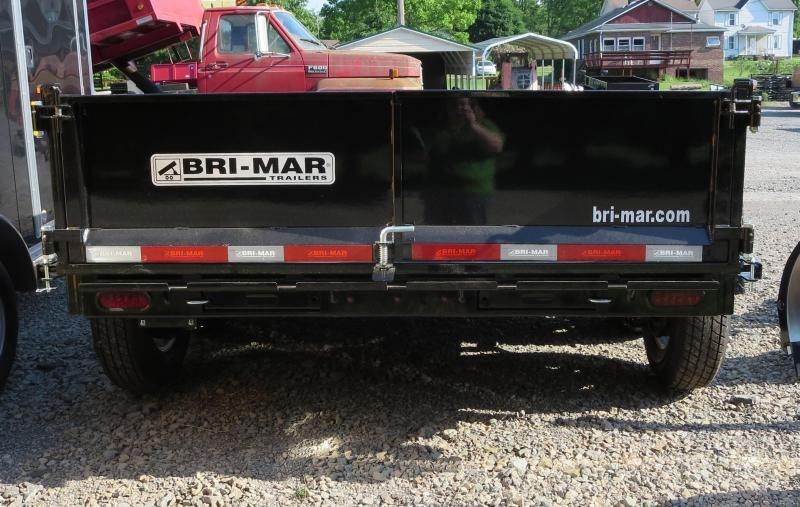 "2018 Bri-Mar DT712LP-LE-10-A 81.5""x12' Low Pro Dump Trailer 10K GVWR"