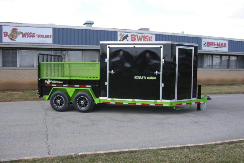 2018 B-Wise ULTIMATE COMBO Dump and Enclosed Trailer