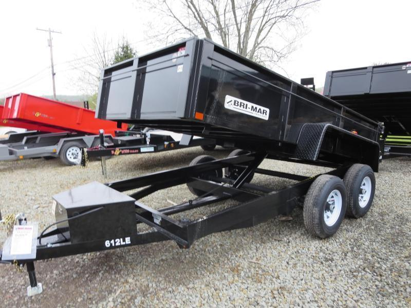 "Bri-Mar DT612LP-LE-10-A 72""x12' Low Pro Dump Trailer 9.9K GVWR in Ashburn, VA"