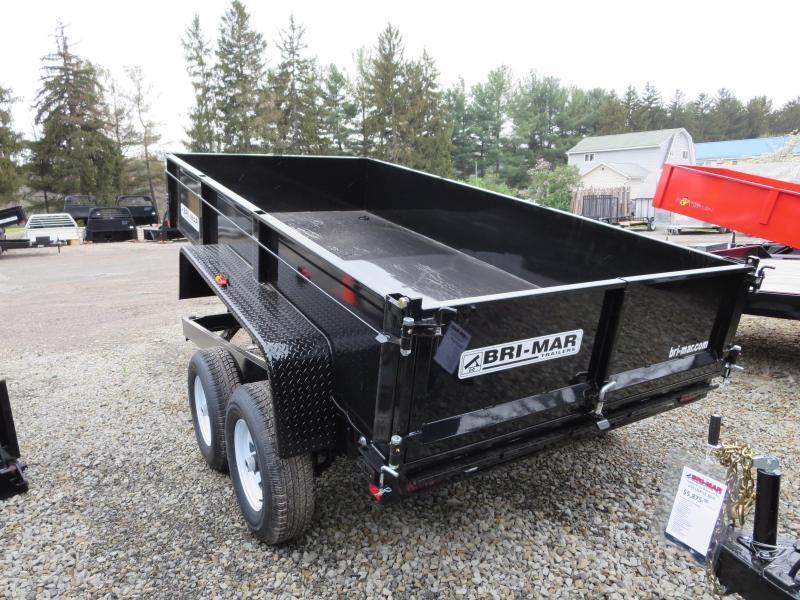 """Bri-Mar DT612LP-LE-10-A 72""""x12' Low Pro Dump Trailer 9.9K GVWR"""