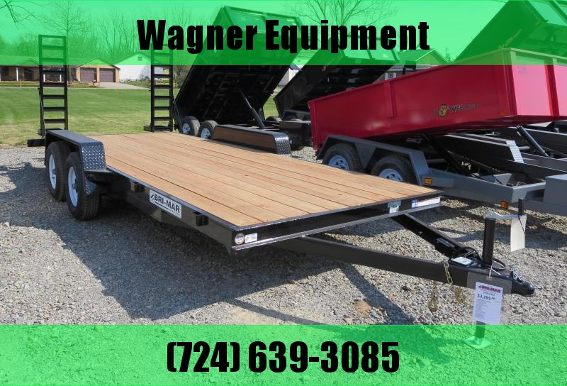 "Bri-Mar EH18-10ELE 84""x18' Equipment Trailer 9.9K GVWR in Ashburn, VA"