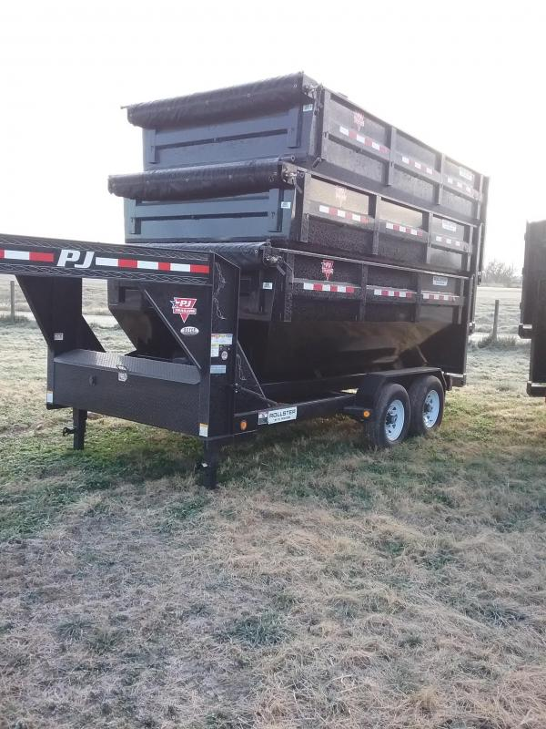 2019 PJ Trailers DR142 Rollster Dumpster with 3 Bins