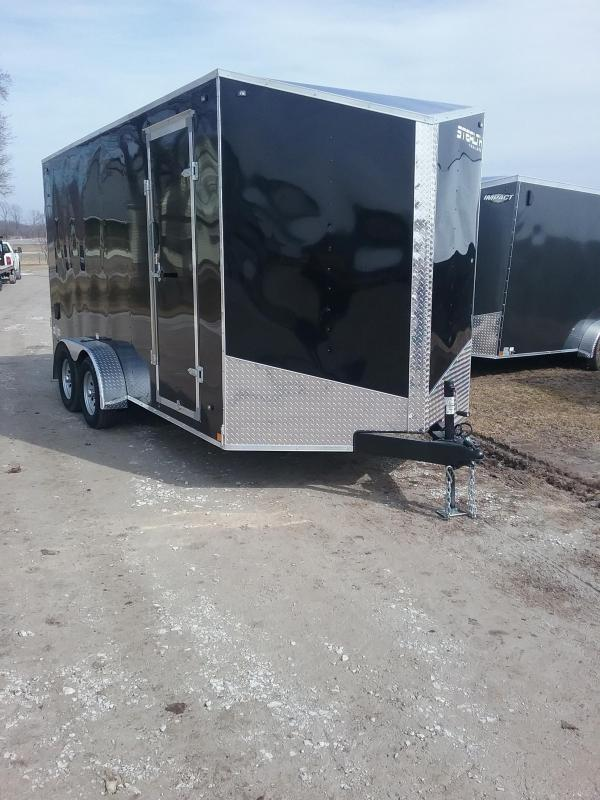 "7X16 (+12"" Additional Height) Stealth Mustang Enclosed Cargo Trailer"