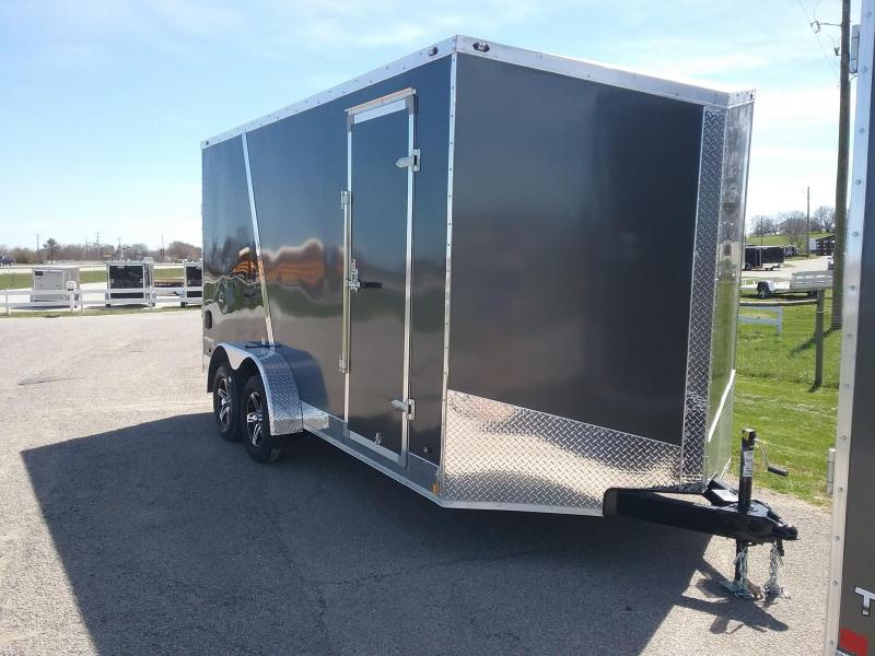 "7X16 (+12"" Extra Interior Height) Stealth Titam Enclosed Cargo Trailer"