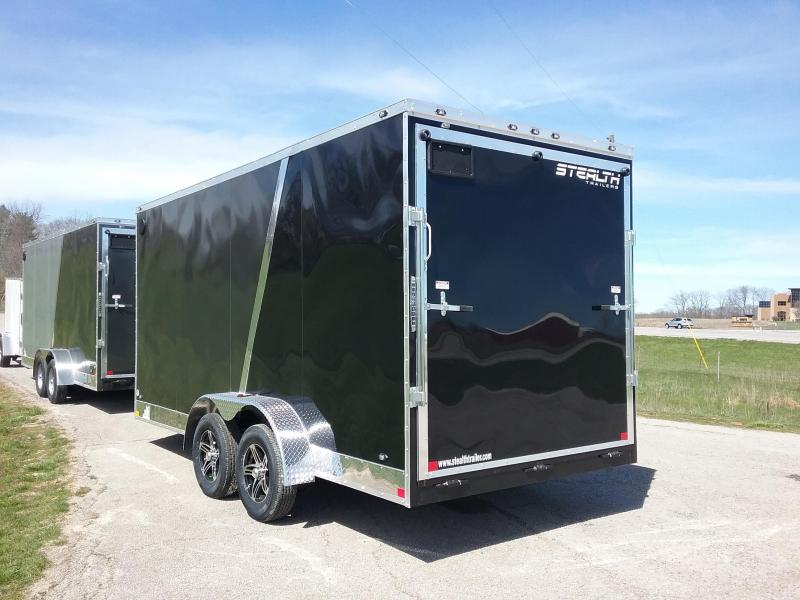 7X16 Plus 12 Inches Stealth Titam Enclosed Cargo Trailer