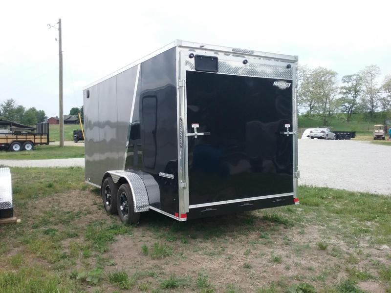 "7X16 (+12"" Extra Interior Height) Impact Shockwave Enclosed Cargo Trailer"