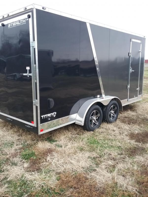 "7x16 2019 Stealth Titan (+12"" Additional Height) Enclosed Cargo Trailer"