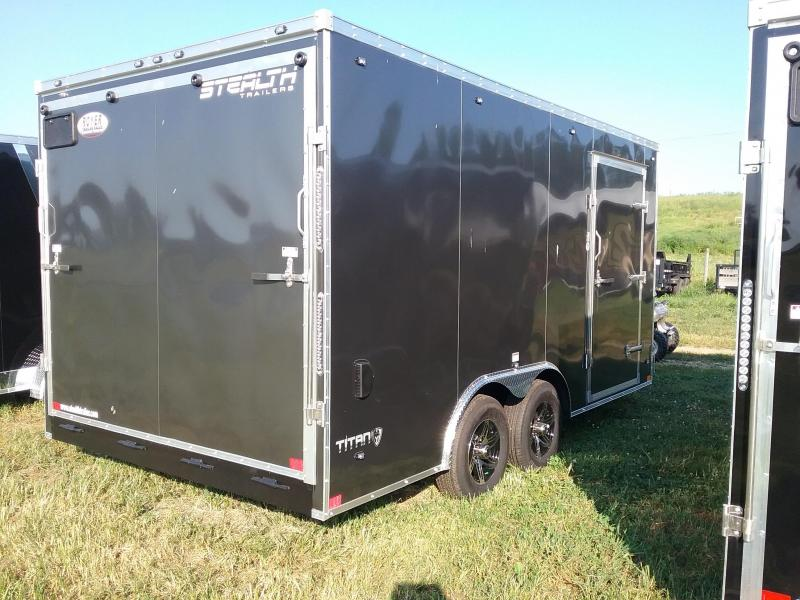 """8.5x16 (+6"""" Additional Height) Stealth Titan with Walk On Roof and 5200# Axles"""