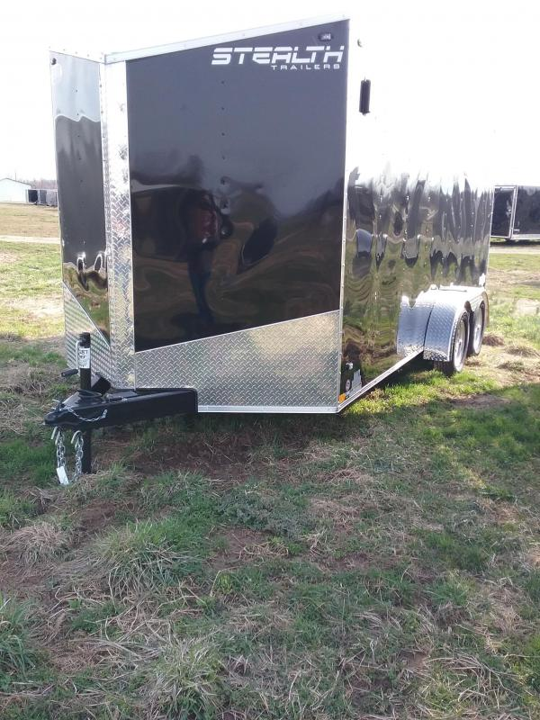 "7x16 (+6"" Additional Height) Stealth Mustang Enclosed Cargo Trailer*HAIL DAMAGED-CALL FOR DISCOUNT PRICING*"