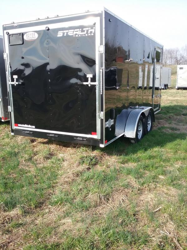 """7x16 (+6"""" Additional Height) Stealth Mustang Enclosed Cargo Trailer"""